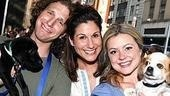 Stephanie J. Block squeezes between Wicked stars Sebastian Arcelus and Kendra Kassebaum.