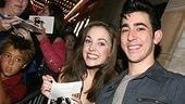 Photo Op - First Preview of Grease - Laura Osnes - Max Crumm (smiling)