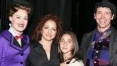 Meeting Broadway's iconic nanny and her chimney sweep beau, Gloria Estefan and Emily with Ashley Brown and understudy Matt Loehr.