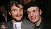 Back in the trenches? Nope, celebrating another victory! Former Journey's End co-stars Hugh Dancy and Jefferson Mays at the Pygmalion party.