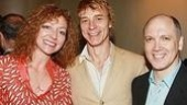 Nominees Julie White and Ben Daniels bond with presenter Charles Busch.