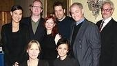 Tracy Letts with his August family (clockwise from left): Kimberly Guerrero, Mariann Mayberry, Ian Barford, Francis Guinan, Troy West, director Anna D. Shapiro and Amy Morton.