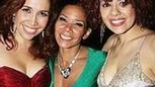 Three very caliente revelers: Heights residents Andrea Burns and Janet Dacal with Rent alum Daphne Rubin-Vega.