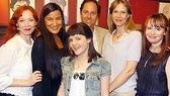 Mariann Mayberry, Kimberly Guerrero, Madeleine Martin, producer Steve Traxler, Amy Morton and Sally Murphy enjoy the festivities.