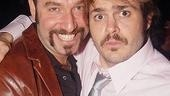 Adam Dannheisser and Mitchell Jarvis, Rock of Ages' dynamic comedic duo, keep up the act long after curtain goes down.