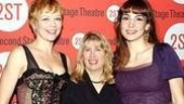 Stars Emily Bergl and Annie Parisse flank Second Stage's Artistic Director, a proud and beaming Carole Rothman.