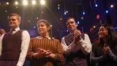 Cast members Andrew Durand, Amanda Castanos, Matt Doyle and Alice Lee savor one last ovation.