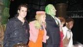 Castmates Matthew Saldivar, Sara Chase, Nick Cordero, Nancy Opel and Demond Green take their opening night bows.