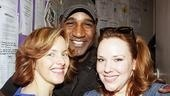 Look who else is here! Little Mermaid star Norm Lewis, who played Alice Ripley's suitor in Side Show, joins Ripley and Skinner backstage.
