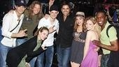 A parting shot of John Stamos with Rock of Age-rs James Carpinello, Joel Hoeksra, Savannah Wise, Jeremy Woodard, Angel Reed, Lauren Molina and Andre Ward.