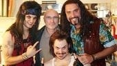 "Who else is ""In the Air Tonight"" backstage at Rock of Ages? Grammy winner Phil Collins, who drops in on Jeremy Woodard, Mitch Jarvis and Adam Dannheisser."