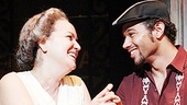 Olga Merediz as Abuela Claudia and Corbin Bleu as Usnavi in In the Heights.