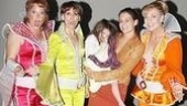Stars Gina Ferrall, Beth Leavel and Judy McLane greet Dynamos-in-Training Suri Cruise and Katie Holmes.