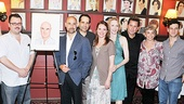 Stanley Tucci is surrounded by his supportive Lend Me a Tenor family. From left: understudy Brian Sears, assistant director Kristin McLaughlin and cast members Jay Klaitz, Tony Shalhoub, Jennifer Laura Thompson, Jan Maxwell, Anthony LaPaglia, Brooke Adams and Justin Bartha.