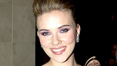 Speaking of glam, A View from the Bridge star Scarlett Johansson not only looked gorgeous, she gave the evening's most impressive acceptance speech.