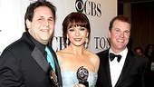 Proud producer David Babani poses with the Tony-winning stars of two shows he brought to Broadway this season: Catherine Zeta Jones of A Little Night Music and Douglas Hodge of La Cage aux Folles.
