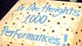In the Heights 1000 Performances – cake
