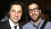 Same first name, two hotly anticipated off-Broadway plays. Trust's Zach Braff rubs elbows with Zachary Quinto, who starts in Angels in America beginning September 14.