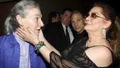 Two great ladies of the theater: Marian Seldes and Elizabeth Ashley.