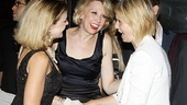 Tony winner Cynthia Nixon lets Alison Fraser and Julie Halston know just how much she enjoyed the show.