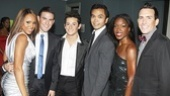 The talented crew of Deborah Cox, Morgan Karr, Frankie James Grande, Jose Llana, Nicole Wilkerson and Dominic Crossey gathers together for a group shot.