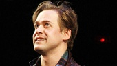 T.R. Knight looks delighted to be back on Broadway for the first time in seven years.