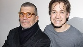 A post-show backstage shot of playwright David Mamet and his young star, T.R. Knight.