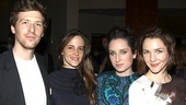 Filmmaker Daryl Wein leans in for a group shot with actresses Maria Dizzia, Zoe Lister-Jones and Jessica Collins.