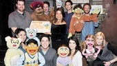 The entire Avenue Q neighborhood assembles for a fine parting shot. Be sure to visit them soon at New World Stages!