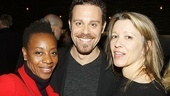 Cheering the Angels crew are actors Marianne Jean-Baptiste, Matthew Rauch (currently in The Merchant of Venice) and Linda Emond.