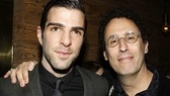 More than Spock: Star Trek star Zachary Quinto, who gives a revelatory performance as Louis Ironson, poses with playwright Tony Kushner.