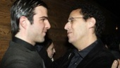 Quinto and Kushner share a private moment at the opening night bash.
