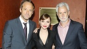 A parting shot of three folks we always want to see on stage: John Benjamin Hickey, Christina Ricci and John Slattery.