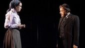 Heather Lind as Jessica and Al Pacino as Shylock in The Merchant of Venice.