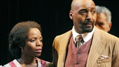 Marsha Stephanie Blake as Nerissa and Jesse L. Martin as Gratiano in The Merchant of Venice.