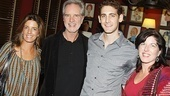 Bob Gaudio's daughters, Lisa (l.) and Danielle, step in for a snapshot with their dad and Ryan Jesse, the actor who portrays him in Jersey Boys.