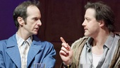 Denis O'Hare as Elling and Brendan Fraser as Kjell in Elling.