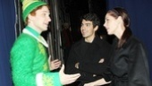 Backstage at Elf with Joe Jonas – Sebastian Arcelus – Joe Jonas – Ashley Greene