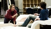 Other Desert Cities Rehearsal  Elizabeth Marvel  Thomas Sadoski (pointing)