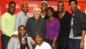 John Kander steps in for a group shot with the talented cast of The Scottsboro Boys. 