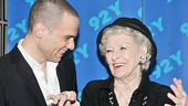 Nice work, if you can get it! Jordan Roth and Elaine Stritch share a laugh before getting down to the business of Broadway Talks.