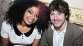 Rebecca Naomi Jones joins her American Idiot castmate (and honorary gala chair) John Gallagher Jr.