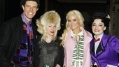 Madison's pal Joyce Bonelli hops in for a group shot.