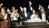 Cast members Liz McCartney, Sean MacLaughlin, Hugh Panaro, Sara Jean Ford and George Lee Andrews bid farewell to the audience.