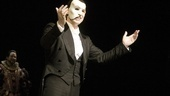 Title star Hugh Panaro greets the audience after the curtain call.