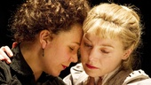 Maggie Gyllenhaal as Masha and Juliet Rylance as Irina in Three Sisters.