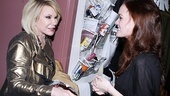 It's a rave review! Joan Rivers tells Jennifer Damiano how much she loved the new musical.