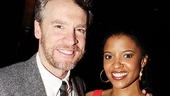 Stage spouses Tate Donovan and Renee Elise Goldsberry look picture-perfect on opening night. 
