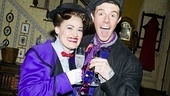 Cheers! Ashley Brown and Gavin Lee toast to Brown's return to Mary Poppins. You can catch the duo flying into the New Amsterdam Theatre eight times a week!