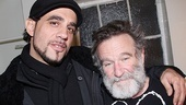 Bobby Cannavale throws his arm around Robin Williams and welcomes the comedian to Broadway. 